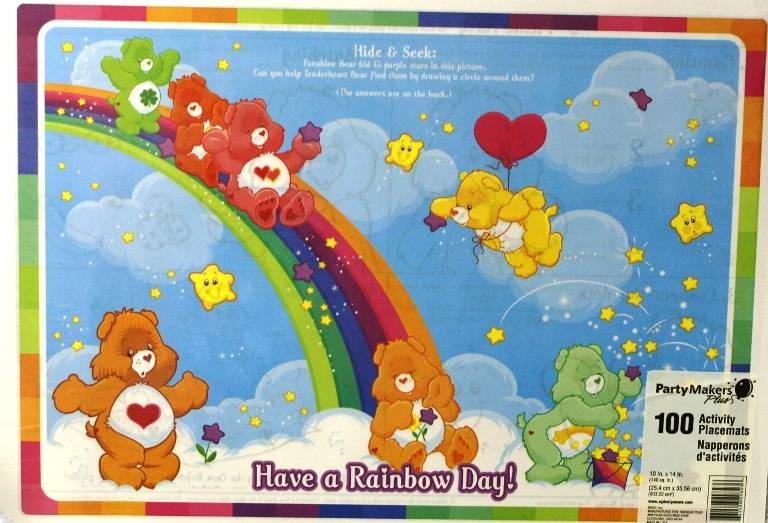 Care Bears Tenderheart Birthday Party Place Mats X