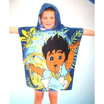 Go diego go jungle hooded beach bath poncho kids t for Go diego go bedding