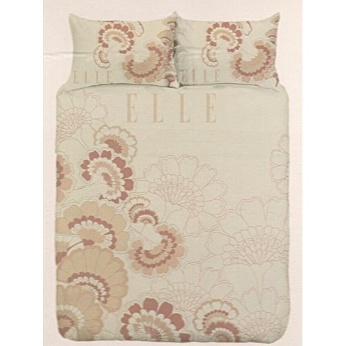 Click for larger view of Elle Fleur Apricot Single Bed Doona Cover Set
