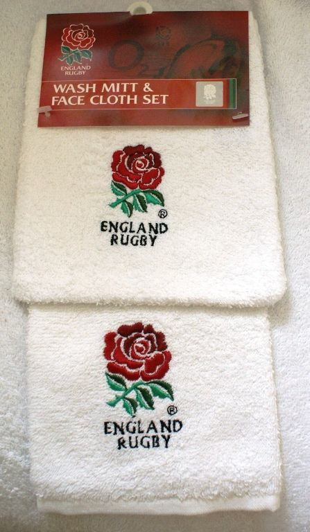 England Rugby Wash Mitt Amp Face Cloth Set Childrens