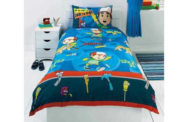 Handy Manny Boys Blue Single Bed Duvet Cover Set