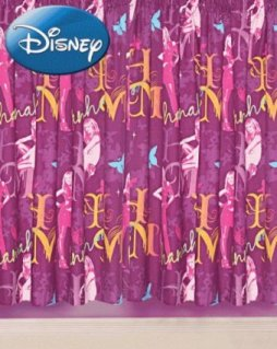 Click for larger view of Hannah Montana GEM Curtains 66x54in PINK GIRLS