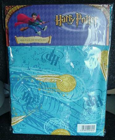 Harry Potter Curtains 66x54 In Golden Snitch Blue