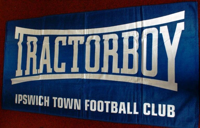 Ipswich Town Fc Beach Towel Blue Tractorboy 75x150