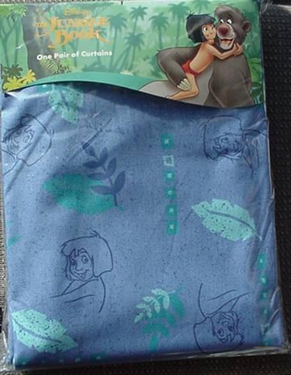 Disney Jungle Book Curtains 66x54 In Mowgli Blue