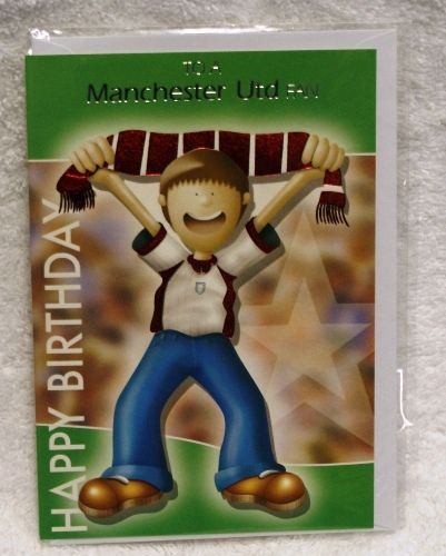 Manchester United Fan Birthday Card Brand New Childrens Bedding Direct