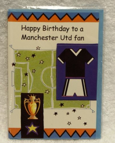 Manchester United Purple Birthday Card Childrens Bedding Direct