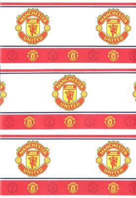 Manchester united border man utd wallpaper borderw for Man u bedroom wallpaper