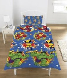 Marvel Super Hero Squad Single Bed Duvet Cover Set