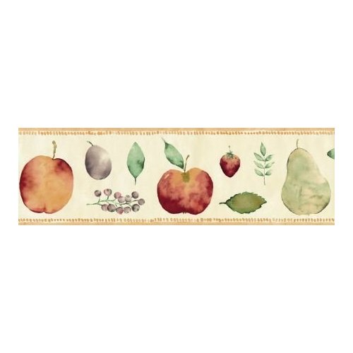 Natural Fruits Roll Of 5m Self Adhesive Border Childrens