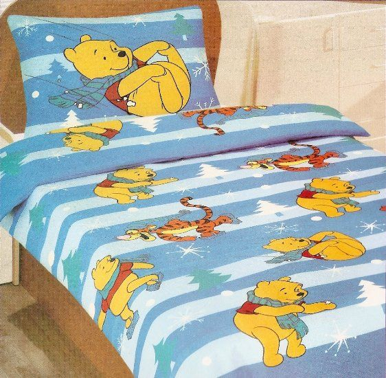 Disney Pooh Cot Bed Duvet Cover Set Christmas Star