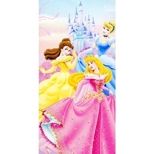 Monogrammed Princess Beach Towel: Childrens Bedding Direct