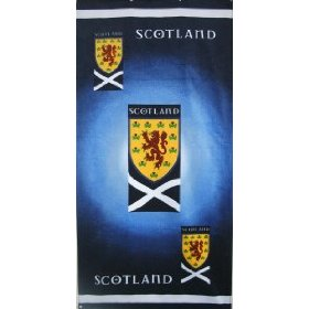 Scotland Sfa Beach Towel 75 X 150 Cm Crest Childrens