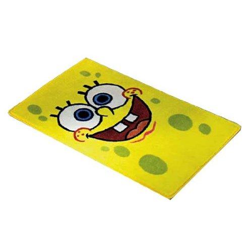 Spongebob Squarepants Face Bedroom Floor Rug Mat - Childrens ...