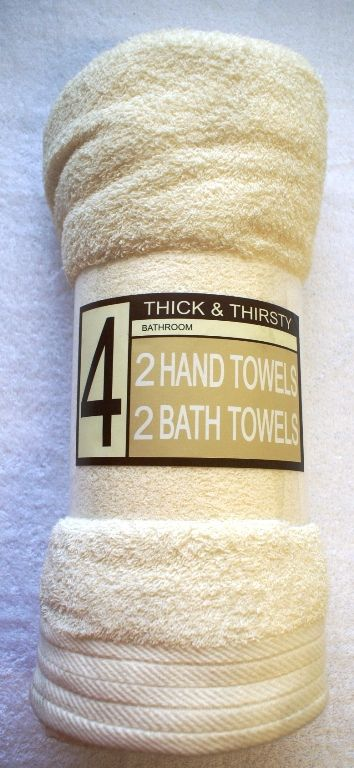 Thick And Thirsty 2 Hand Towels 2 Bath Towels Crea