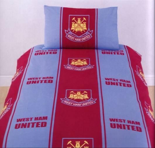 West Ham Utd Fc Single Bed Duvet Cover Set Officia