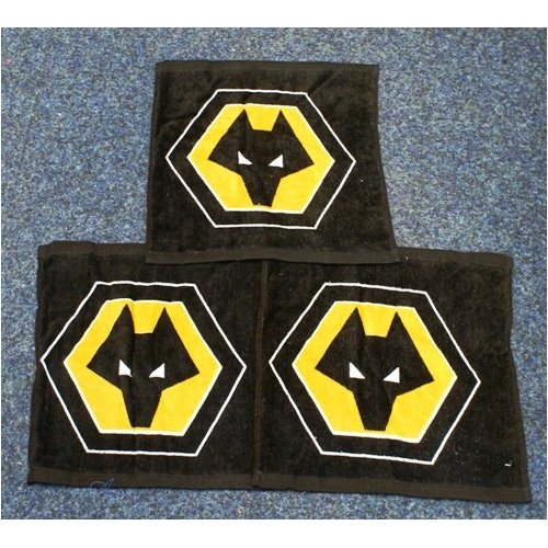 Wolves Fc Face Cloth Face Towel Flannel 3 Pack Childrens